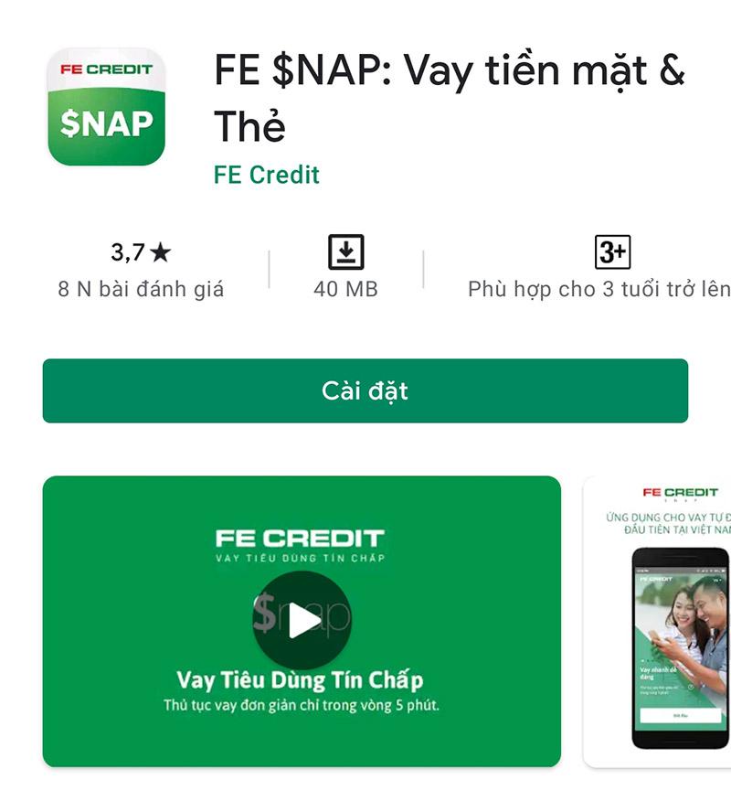 Tải app FE Snap tại kho ứng dụng
