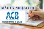 Mẫu Ủy nhiệm chi ACB