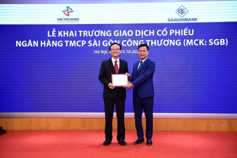 Lễ khai trường giao dịch cổ phiếu của Saigonbank